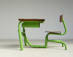 Single seat school desk Jean Prouve 1950