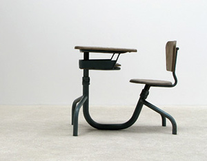 Single seat school desk Jean Prouve