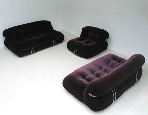 Soriana seating group Afra and Tobia Scarpa 1970