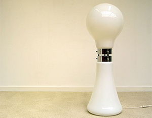 Space Age Italian glass floor lamp Murano Italy