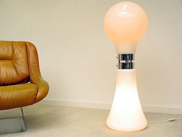 Space Age Italian glass floor lamp Murano Italy