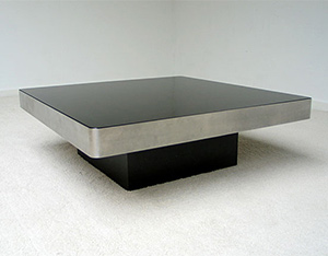 Square Coffee table Willy Rizzo 1970 Italy