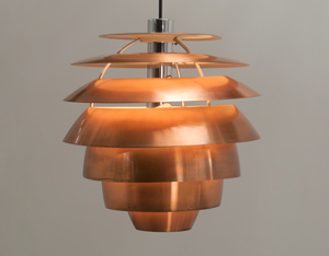 Stilnovo Copper Chandelier 1958