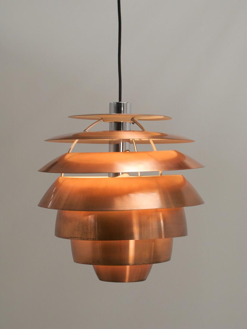 Stilnovo Copper Chandelier 1958