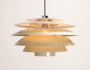 Stilnovo white chandelier