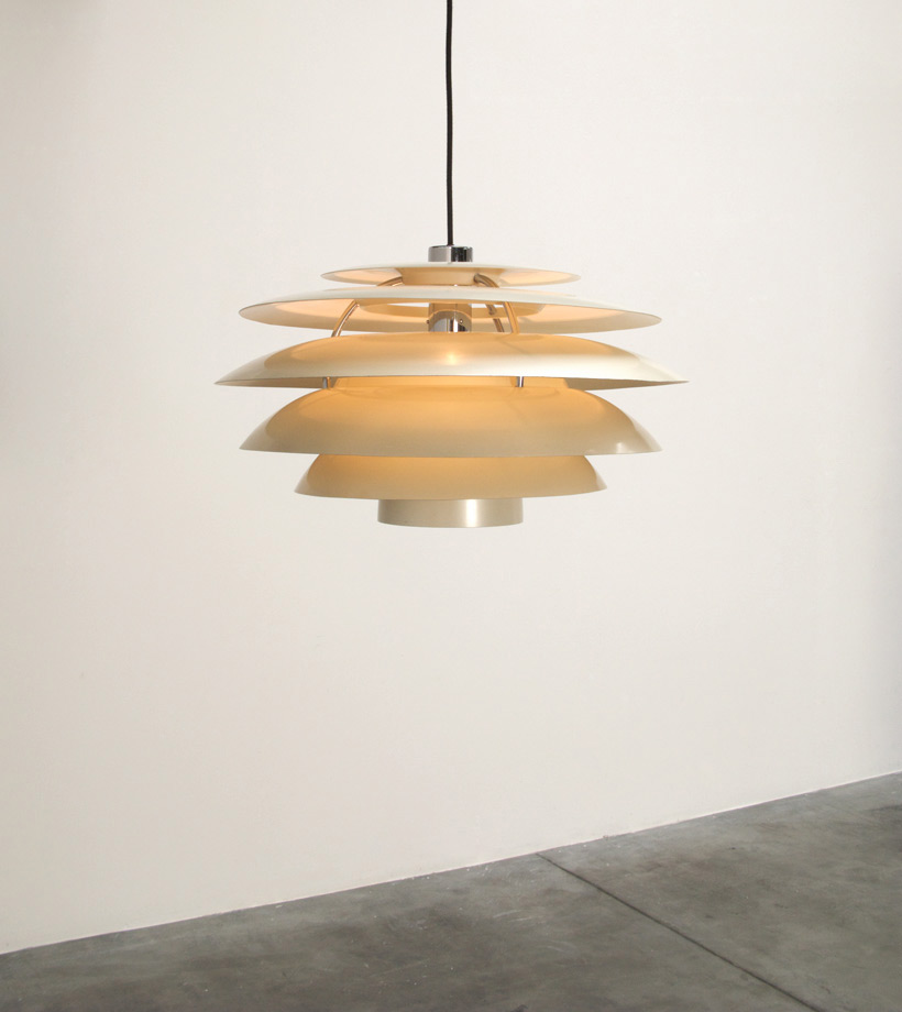 Stilnovo white chandelier