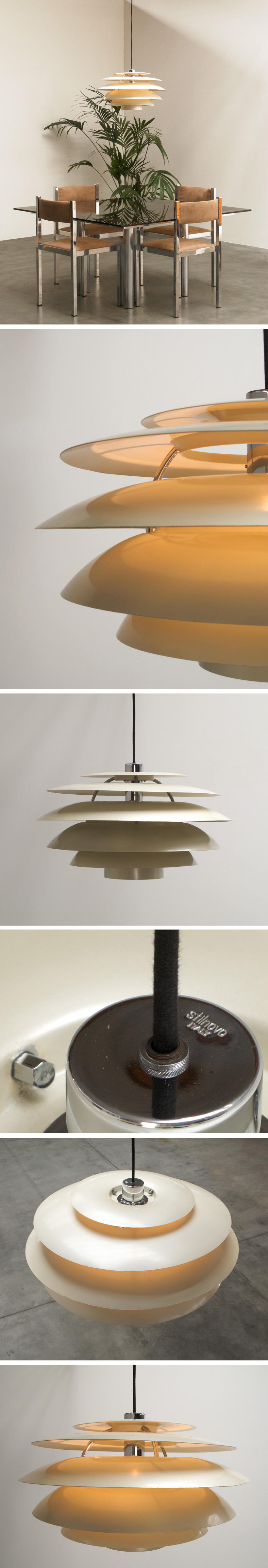 Stilnovo white chandelier Large