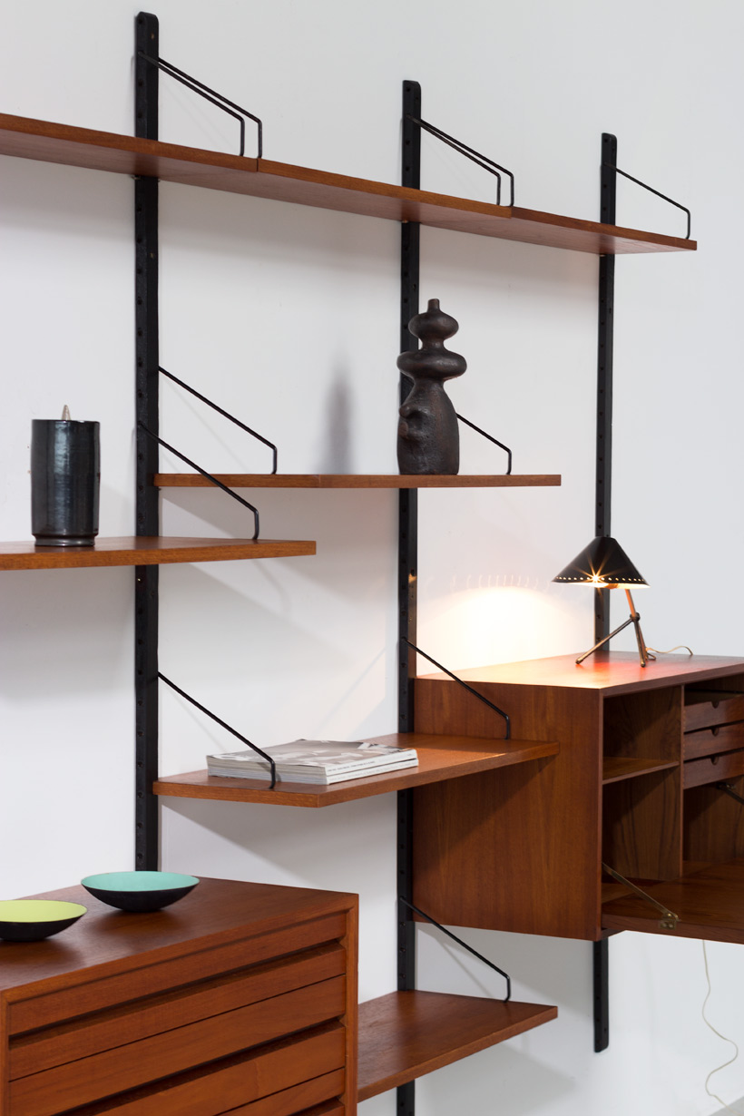 Teak Wall Unit Poul Cadovius with desk Royal System