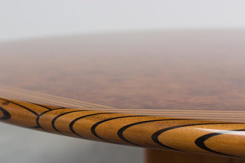 Tobia Scarpa and Afra Scarpa Artona Burl wood Dinning table 1975 img 7