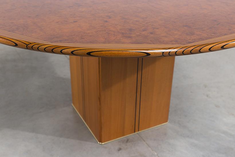 Tobia Scarpa and Afra Scarpa Artona Burl wood Dinning table 1975 img 8