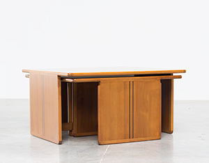 Tobia Scarpa and Afra Scarpa Coffee table with side tables 1975