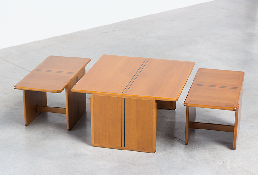 Tobia Scarpa and Afra Scarpa Coffee table with side tables 1975 img 4