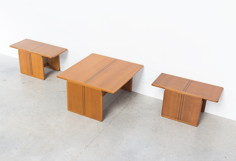 Tobia Scarpa and Afra Scarpa Coffee table with side tables 1975 img 5