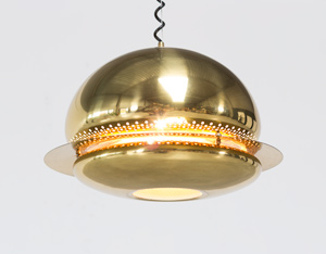 Tobia Scarpa brass Nictea ceiling lamp for flos Italy 1961