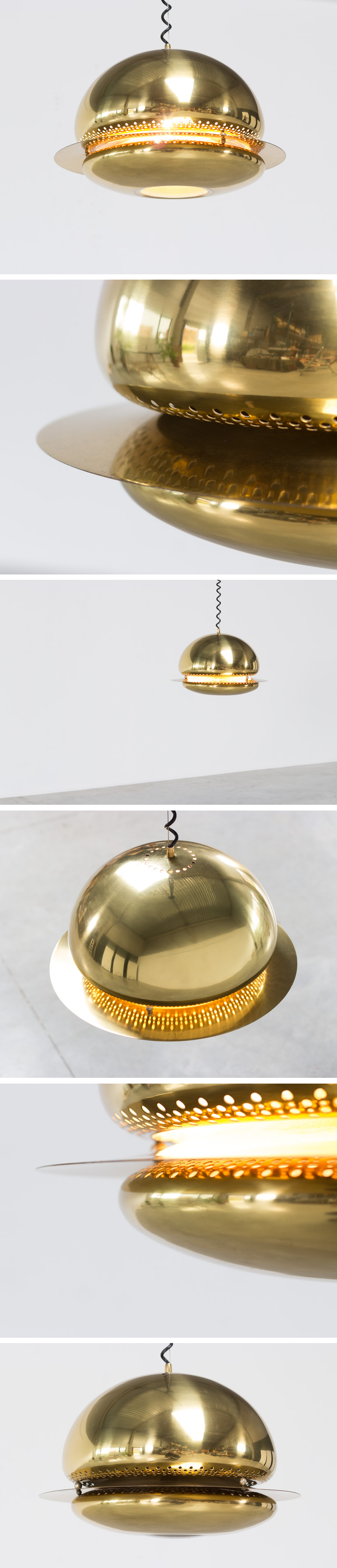 Tobia Scarpa brass Nictea ceiling lamp for flos Italy 1961 Large