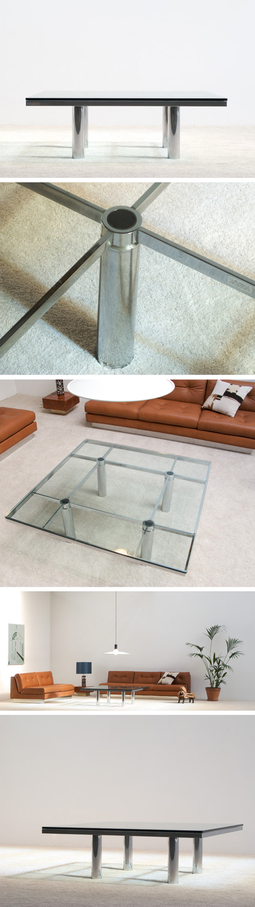 Tobia Scarpa Square Coffee table Andre for Gavina Large
