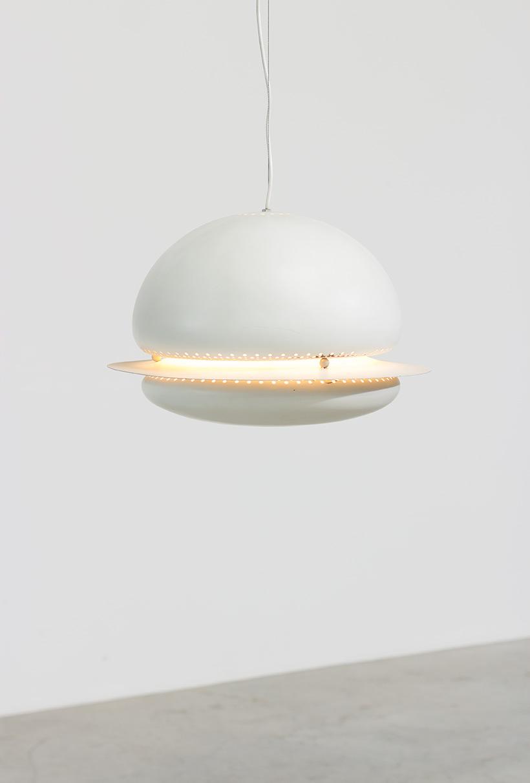 Tobia Scarpa white Nictea pendant lamp Flos 1960 img 3