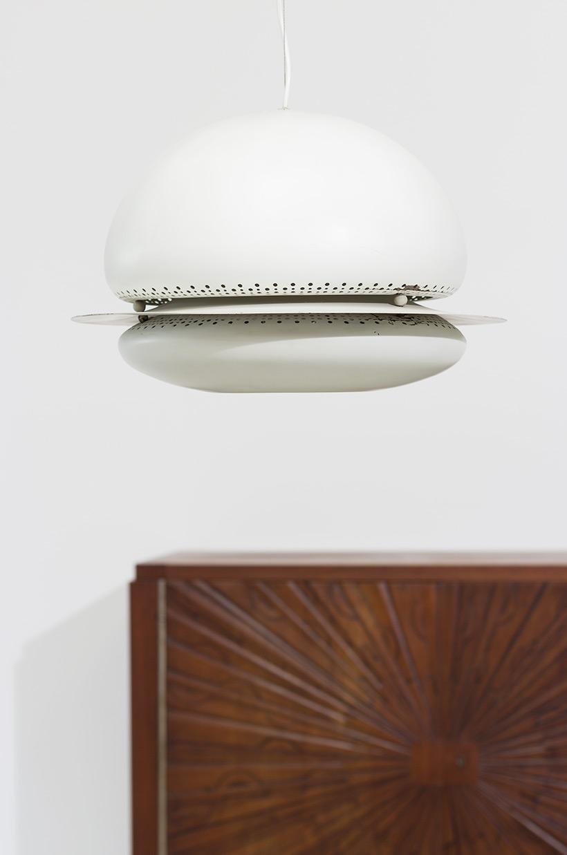 Tobia Scarpa white Nictea pendant lamp Flos 1960 img 7