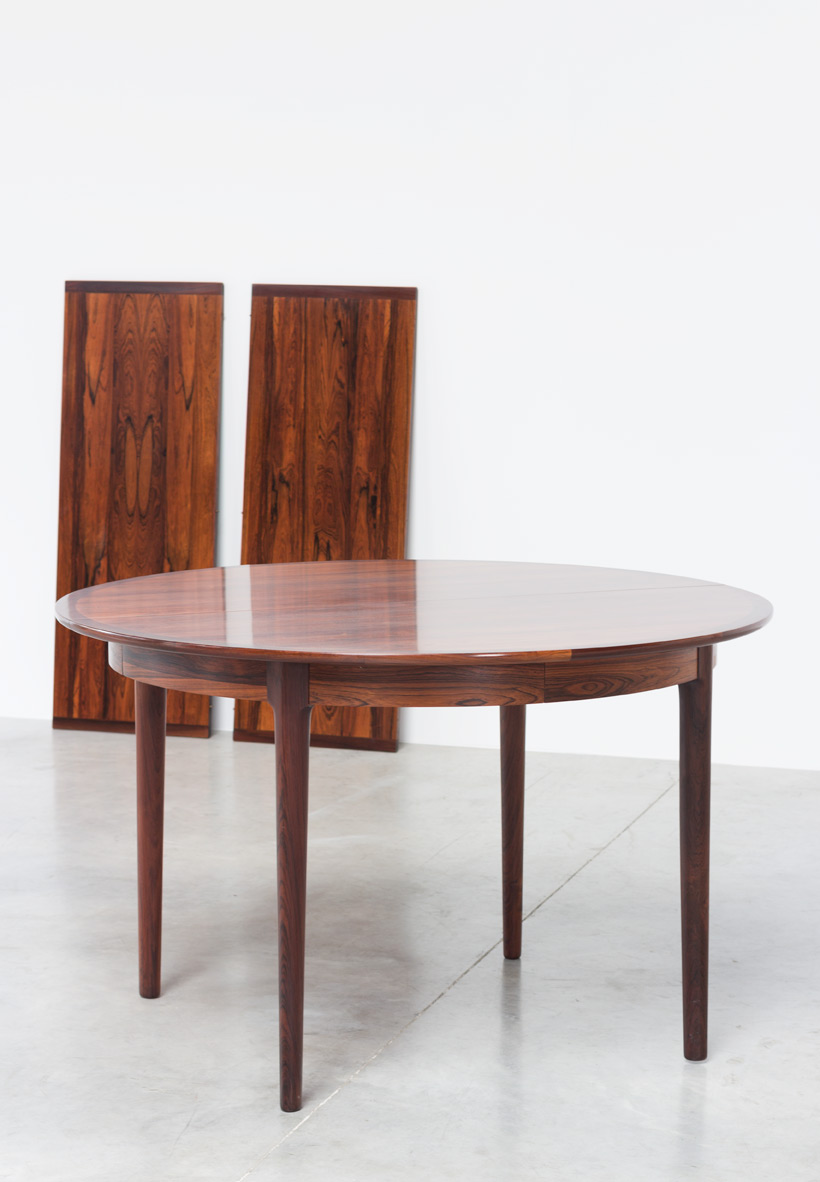 Torbjorn Afdal Brazilian rosewood extendable dinning table