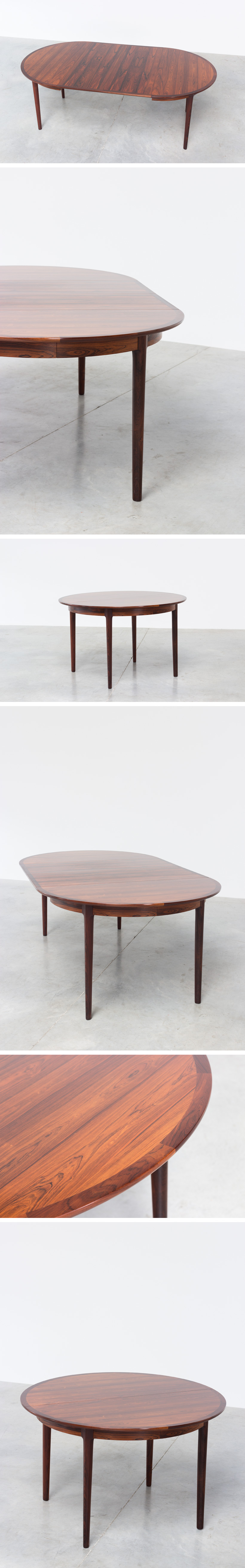 Torbjorn Afdal Brazilian rosewood extendable dinning table Large