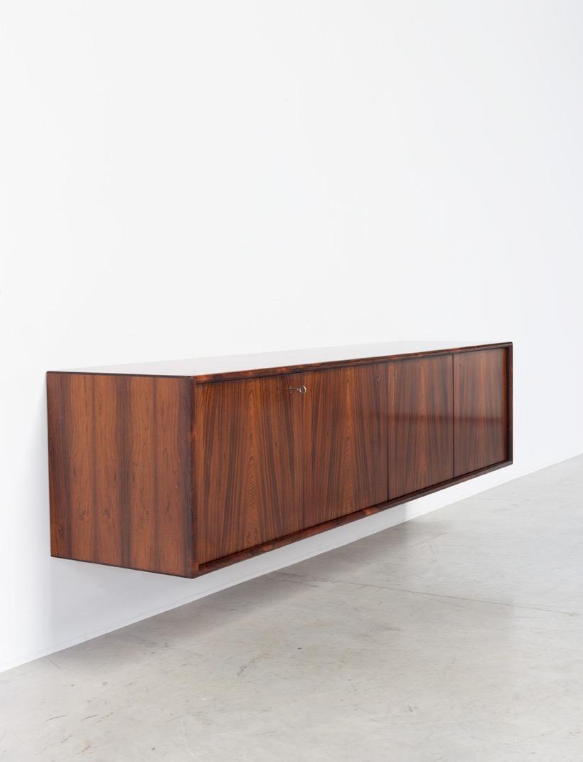 Torbjorn Afdal Brazilian rosewood sideboard Nesjestranda Mobelfabrikk