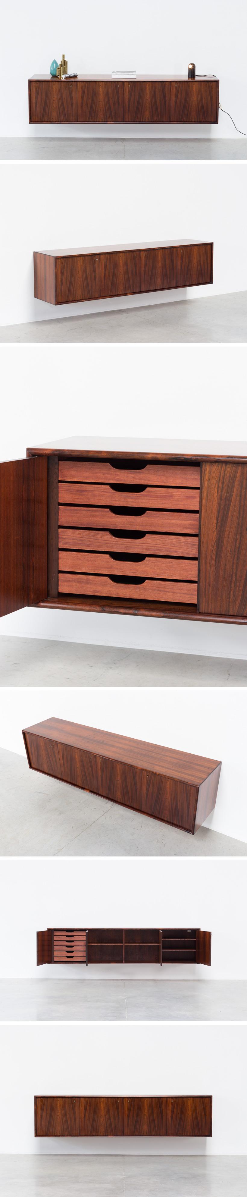 Torbjorn Afdal Brazilian rosewood sideboard Nesjestranda Mobelfabrikk Large