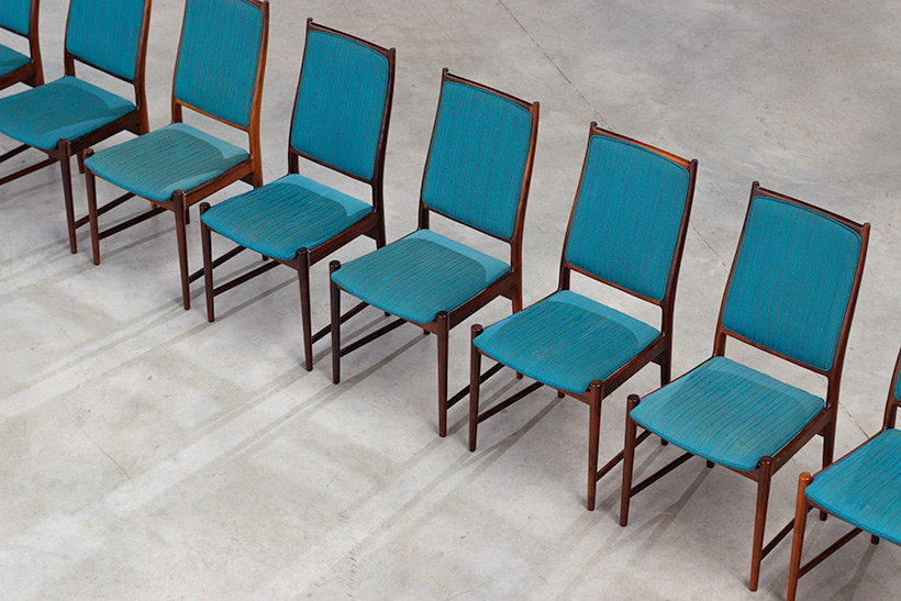 Torbjorn Afdal set of 8 Brazilian rosewood dining chairs