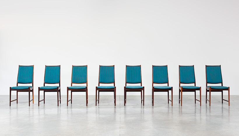 Torbjorn Afdal set of 8 Brazilian rosewood dining chairs img 3