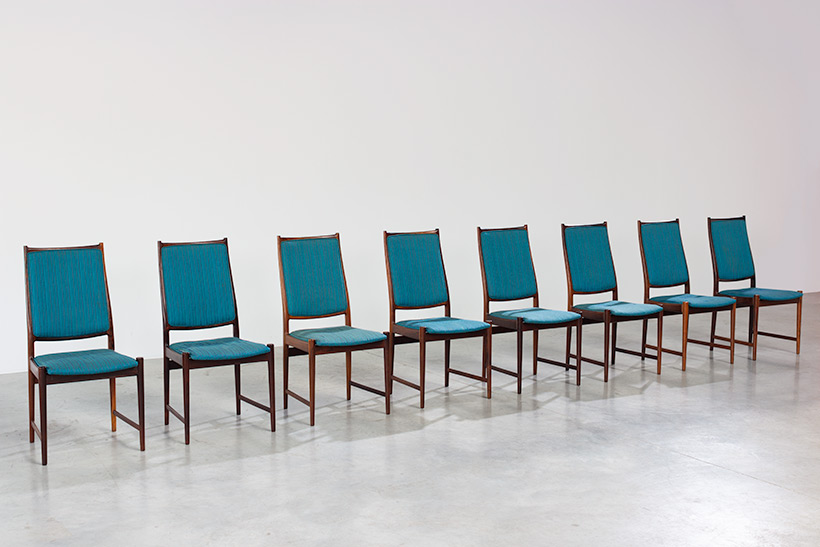 Torbjorn Afdal set of 8 Brazilian rosewood dining chairs img 4