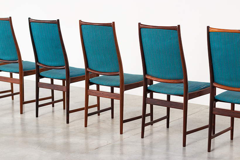 Torbjorn Afdal set of 8 Brazilian rosewood dining chairs img 7