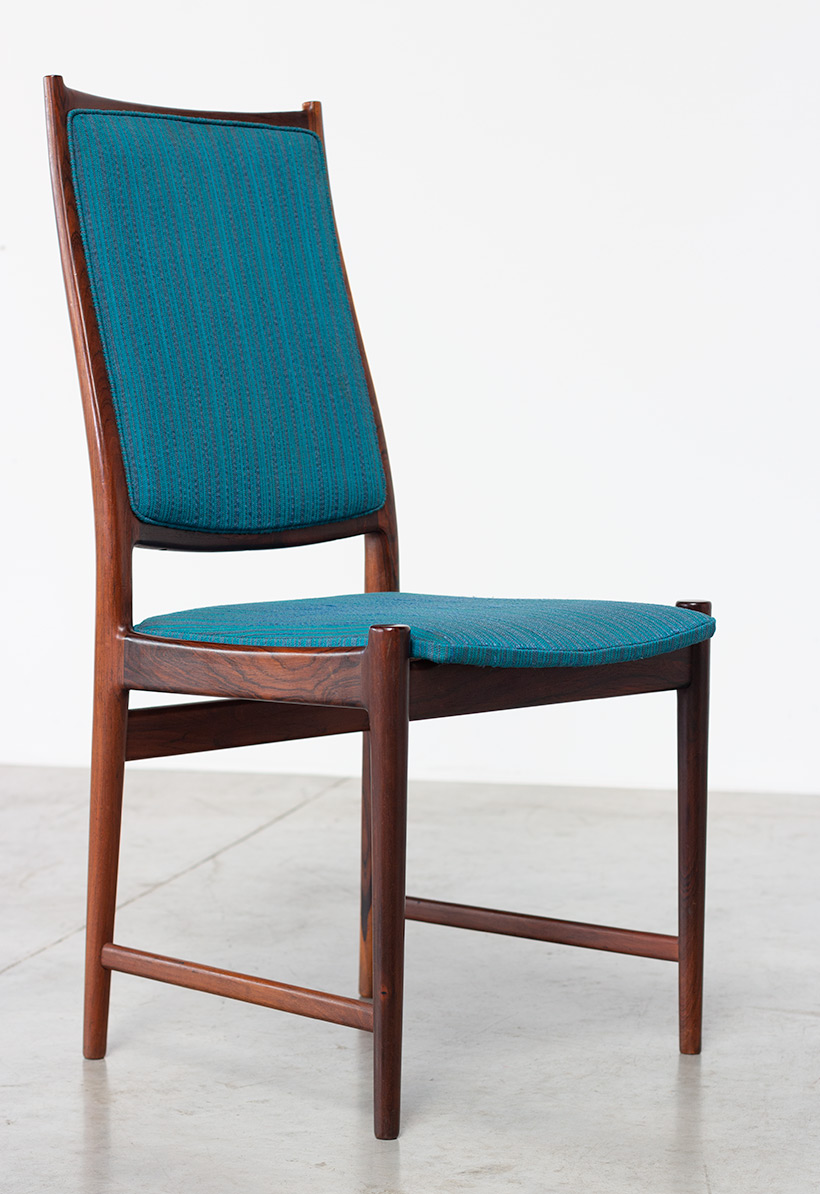 Torbjorn Afdal set of 8 Brazilian rosewood dining chairs img 8