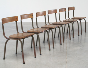 Tubax industrial chairs dated 1957