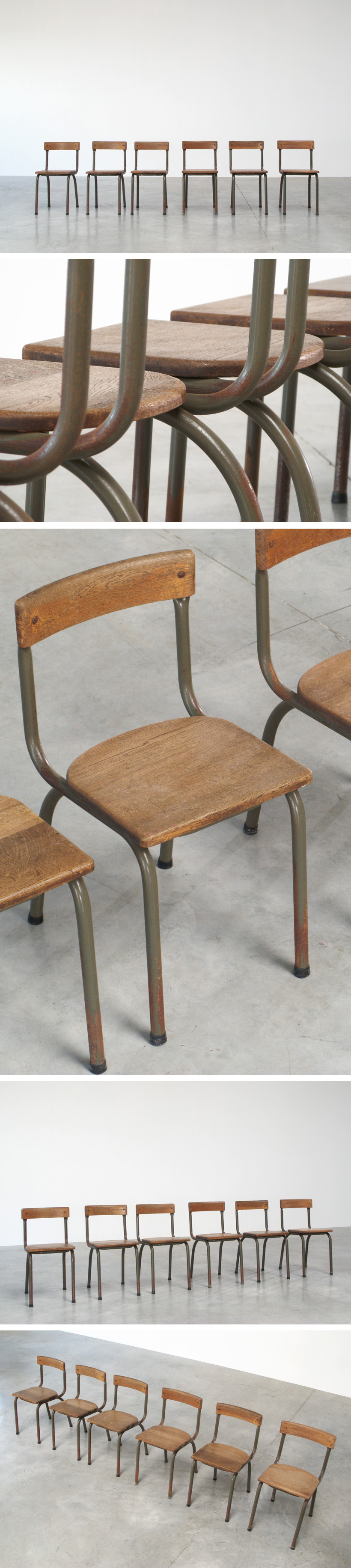 Tubax industrial chairs dated 1957 Large