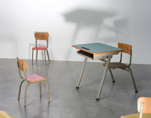 Tubax industrial school desk for children