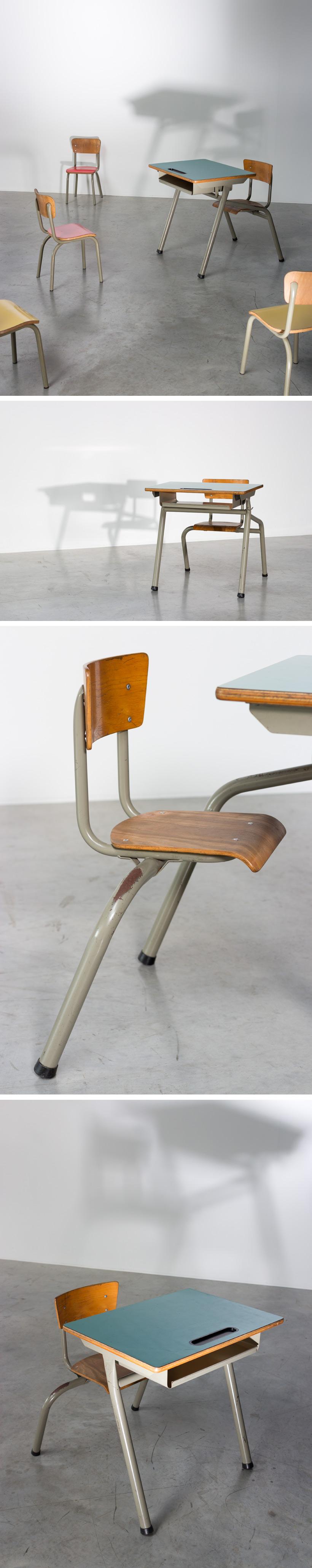 Tubax industrial school desk for children Large