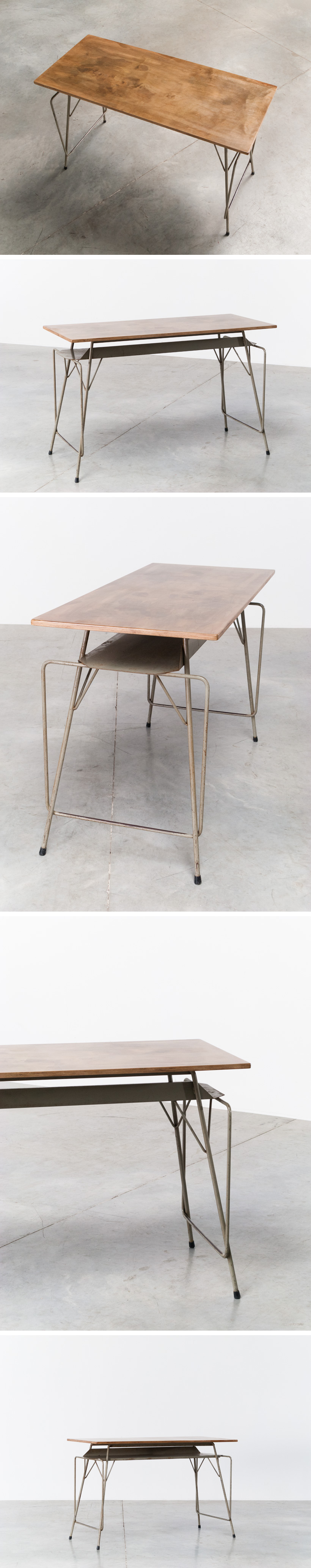 Tubax Willy Van Der Meeren grey writing table Large