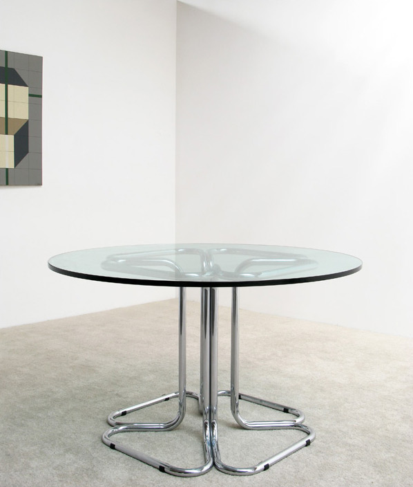 Tubular chrome dinning table Circa 70
