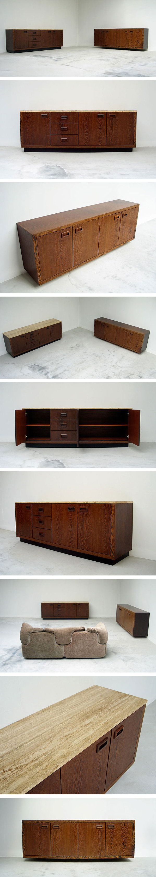 Two sideboards in Wenge Wood 1970 Large