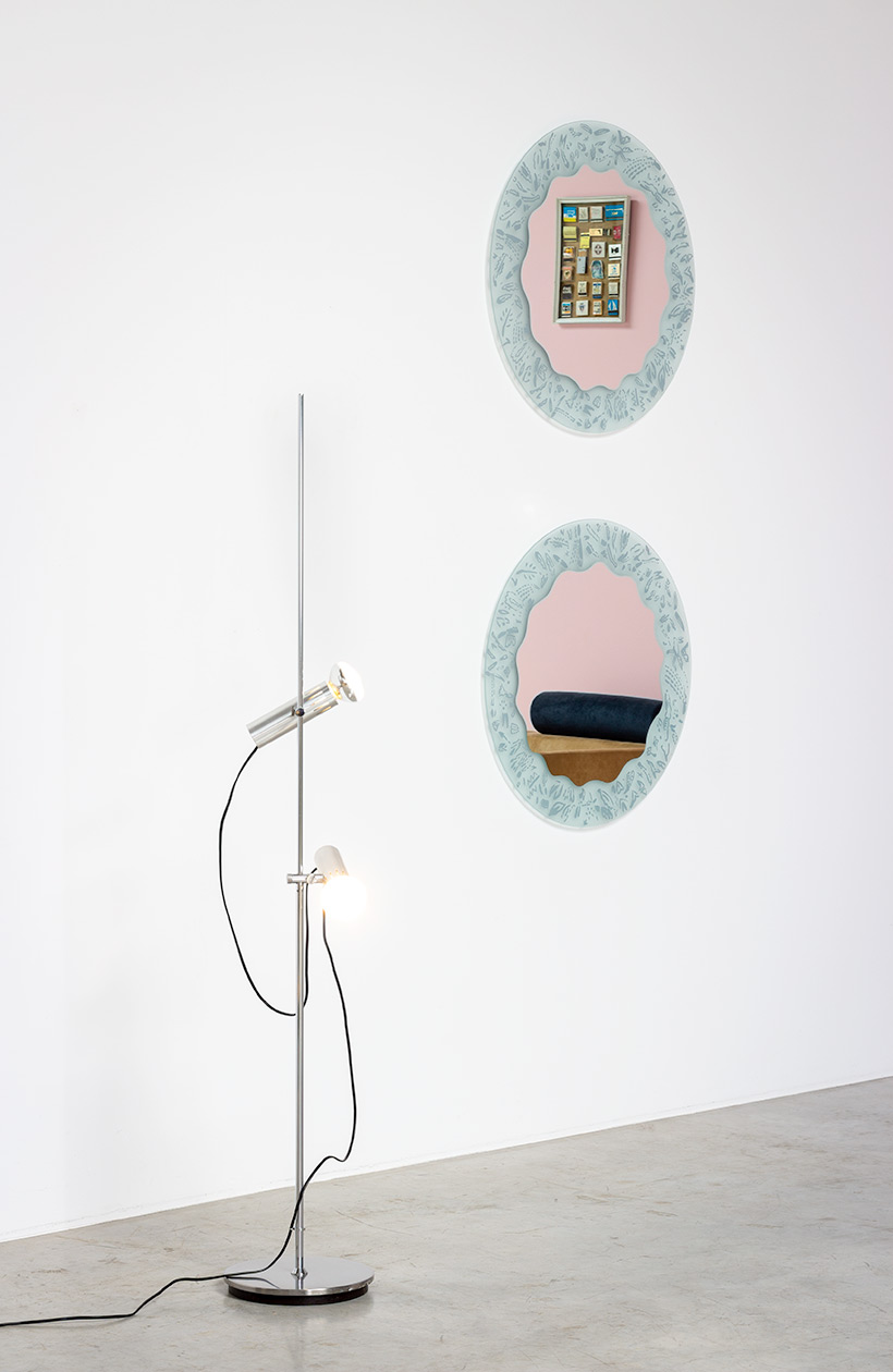Ugo La Pietra pair of mirrors Micro Macro 1980