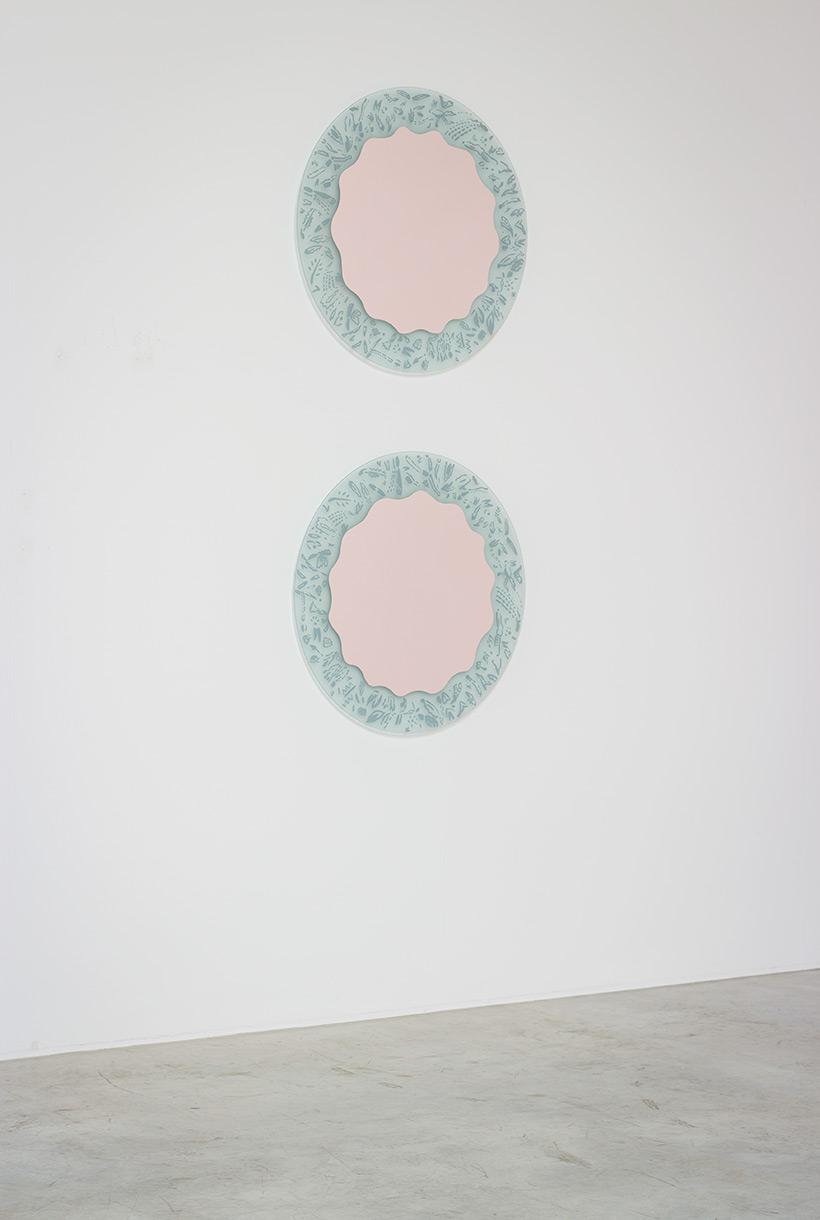 Ugo La Pietra pair of mirrors Micro Macro 1980 img 3