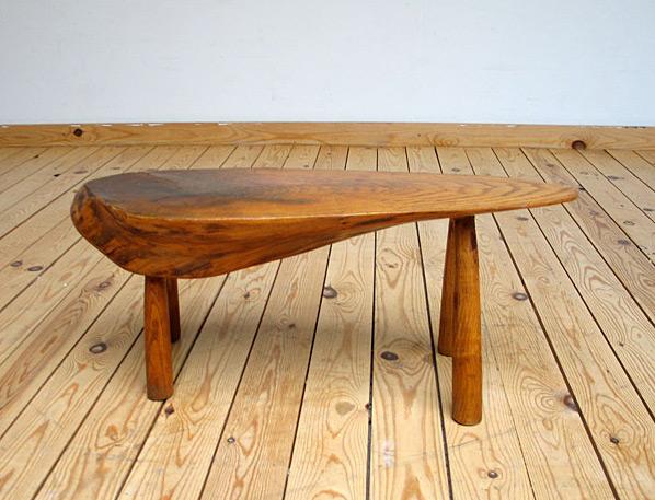 Unique freeform wooden custom stool