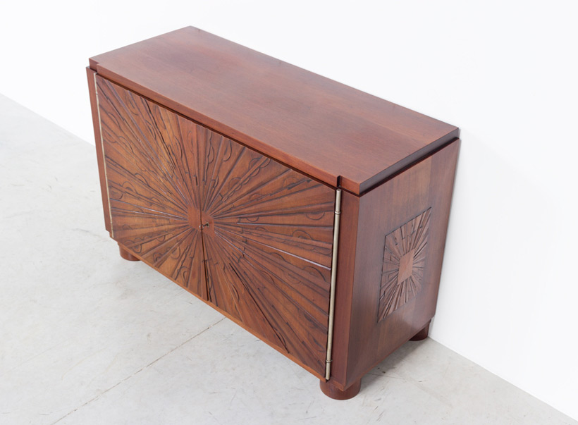 Unique graphic sideboard in mahogany signed by Kint and Fils Gand 1940 img 4