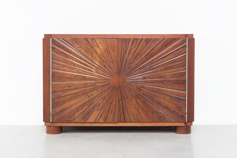 Unique graphic sideboard in mahogany signed by Kint and Fils Gand 1940 img 6