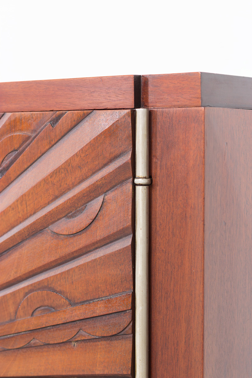 Unique graphic sideboard in mahogany signed by Kint and Fils Gand 1940 img 9