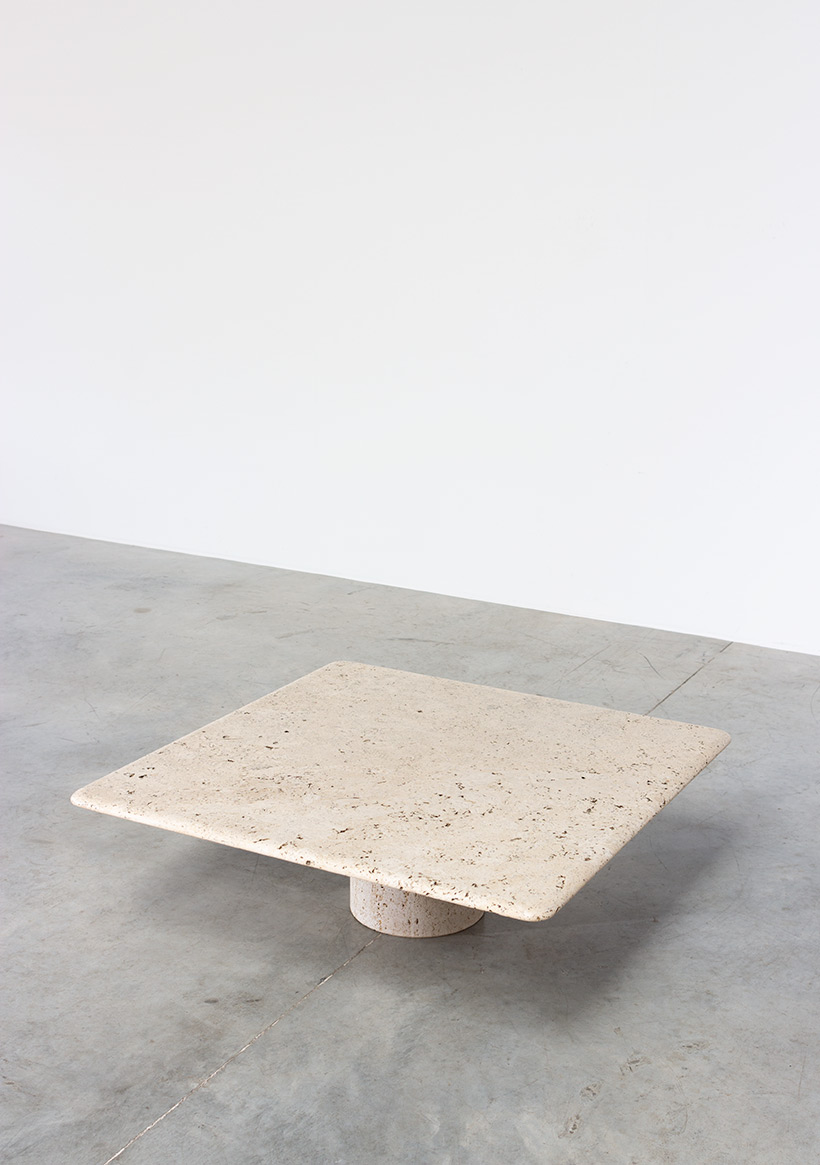 UP UP 20th century Modern travertine coffee table circa 1970 Italy img 3