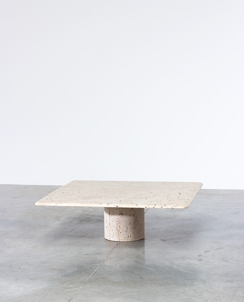 UP UP 20th century Modern travertine coffee table circa 1970 Italy img 4