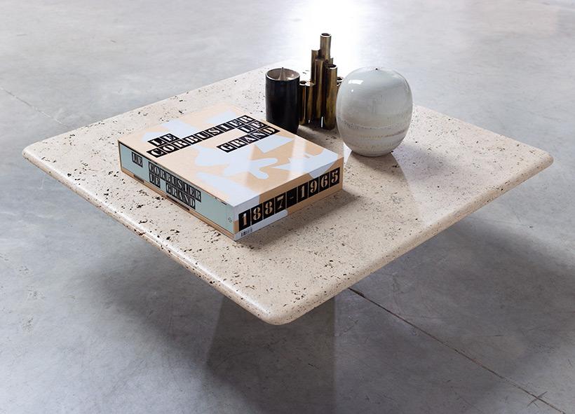UP UP 20th century Modern travertine coffee table circa 1970 Italy img 5