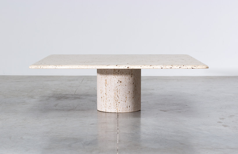 UP UP 20th century Modern travertine coffee table circa 1970 Italy img 6