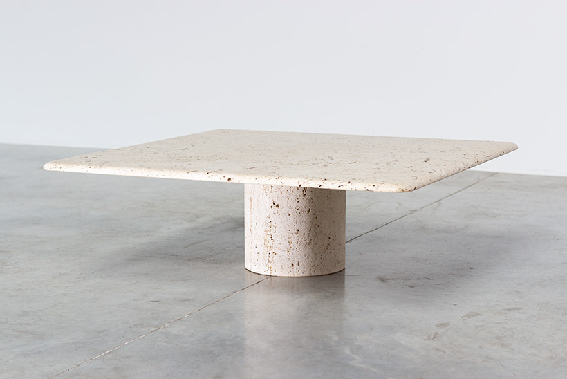 UP UP 20th century Modern travertine coffee table circa 1970 Italy img 7