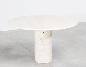 UP UP Modern travertine dinning table or console circa 1970